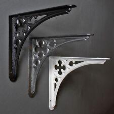20.3x17.8cm antique fonte gothique étagère CITERNE crochet noir blanc étain -