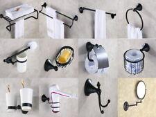 Oil Rubbed Brass Towel Bar Ring Toilet Bathroom Hardware Set AJ009
