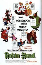 Vintage Disney Robin Hood Movie Poster A3/A2/A1 impresión