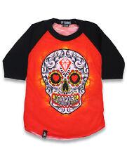Six Bunnies Kids Tattoo Sugar Skull Raglan T Shirt Top Age 2 3 4 5 6 Punk Rock