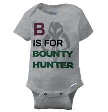 Cute B For Bounty Hunter Gerber Onesie | Space Fett Galaxy Nerdy Baby Romper