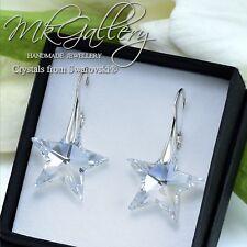 925 Sterling Silver Earrings STAR - Moonlight 20mm Crystals from Swarovski®