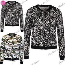 Ladies Baseball Collar Zipper Velvet Flock Bomber Jacket Womens Vintage Top Coat