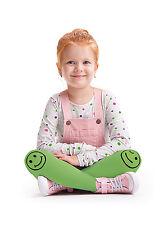 Collant IN MICROFIBRA VERDE HAPPY SMILE viso modello GIRL BABY PARTY Collant T4