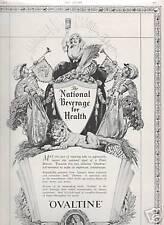 Ovaltine National Beverage for Health advert 1937