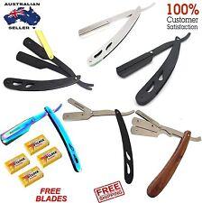 Barber Salon Straight Cut Throat Shaving Razor men safety Blade razors hair