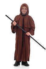 Garçons Enfants médiéval Saxon Moine déguisement MARRON 4-12 Ans Neuf