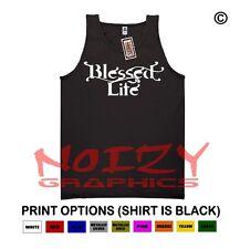 Blessed #6 Life Christian TANK TOP Jesus Religious Black Shirt Worship Church
