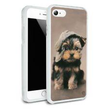 Yorkie Yorkshire Terrier Dog Dapper Cap Hybrid Rubber Bumper iPhone 7 and 7 Plus