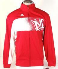 Adidas ClimaWarm Collegiate Miami University Red & White Track Jacket Mens NWT