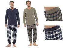 Para Hombre comprobado Pj Pijama Set Top y Bottoms sleep/lounge Wear