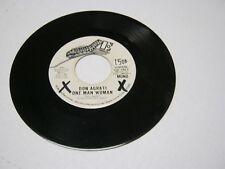 Don Agrati One Man Woman/Same 45 RPM