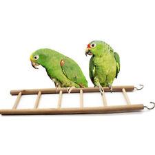 Parrot Wooden Ladder Swing Scratcher Bird Pet Toy Climb Hamsters Cage Scratcher