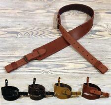 "Genuine Leather Hunting Shotgun Rifle Sling Strap - adjustable 30.5"" - 42"""