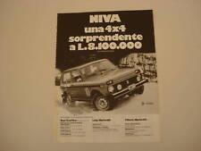 advertising Pubblicità 1981 LADA NIVA 4X4