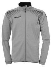 Uhlsport Mens Classic Sports Football Full Zip Jacket Tracksuit Top Grey Black