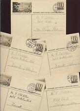 SWITZERLAND 1953-4 STATIONERY VILLAGE CANCELS..10 CARDS