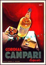 Cordial Campari 1926 Italian Liquor Vintage Poster Print Marcello Nizzoli Art