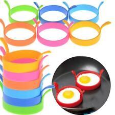 4pcs Silicone Egg Rings Non Stick Baking Kitchen Pancake Handles Egg Rings Tools