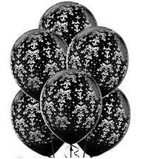 30.5cm motivo a fiori stampa nera Palloncini Lattice Elio / ARIA qualità