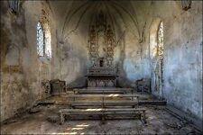 Ivo Sneeuw: Chapel de la Meuse III Keilrahmen-Bild Leinwand Interieur lost place