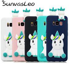 For Samsung Galaxy S7 S7edge S8 S8+ S9 S9+ 3D Unicorn Soft Silicone Case Cover