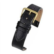 Da Uomo Vera Pelle Reale Nero bufalo grana cinturino larghezza di banda 18mm