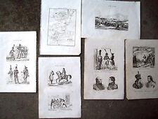 1836 INCISIONI NAPOLEONICHE IENA PRUSSIA E MILITARI PRUSSIANI GERMANIA EST