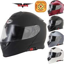 VCAN V271 DVS Flip Up Front Modular Motorcycle Helmet Motorbike Crash ACU Gold