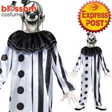 CK1065 Boys Killer Circus Clown Costume Halloween Horror Scary Jester + Mask