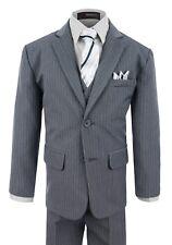 G220 Gino Giovanni Boy's Formal 2 Buttons Pinstripe Dresswear Suit Set