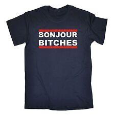 Bonjour Bitches T-shirt Français Paris Hen Stag Rude son Lui Cadeau Fête des Pères