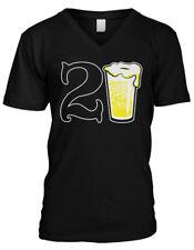 21st Happy Birthday Drinking Drunk Party Beer Shenanigans Mens V-neck T-shirt