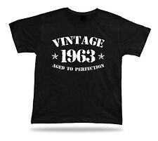 Bedruckte T-Shirt Abschlag Jahrgang 1963 gealtert Perfektion Geschenk Geburtstag