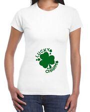 Lucky Charm T Shirt Irish Maternity Pregnancy Womens Baby Mum St Patrick's EP8