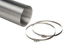 Semi Rigid Aluminium Hose 1.5M or 3M & Hose Clips For 100mm 125mm 150mm Ducting