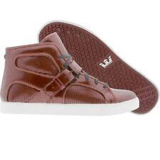 $210 Men Supra Trinity NS burgandy patent Skate Fashion Sneakers