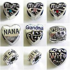 MUM Grandma NANA Daughter WIFE Love ~ Beads to Personalise your Charm Bracelet