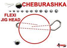 5Pcs Jig Head FLEXI CHEBURASHKA  Sinker Weight Lead Soft Lure Ball size 1g to 30