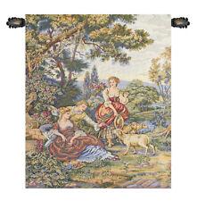 Pastoral (Pastorella) Italian Landscape Romantic Woven Tapestry Wall Hanging