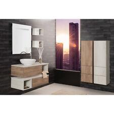 Composition Suspendue salle de bains Unika 100 avec colonnes - Made in Italy
