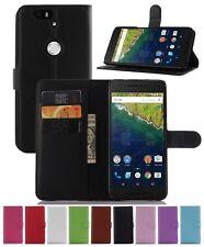 Wallet Leather Flip Card Case Cover For Huawei Google Nexus 6P Genuine AuSeller