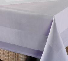 Tischdecke Damast, Gastronomie Stoffservietten, Mitteldecke mit Atlaskante weiß
