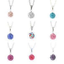 Collier 9 couleurs strass boule, long collier joli cadeaux pour femme