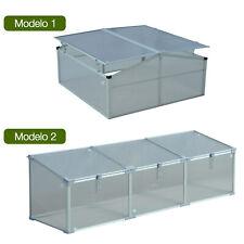 Invernadero de Jardín Aluminio Policarbonato Transparente Vivero Casero Plantas