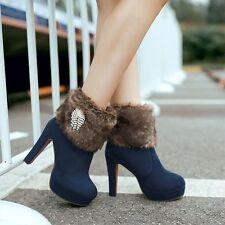 botas tacón de aguja zapatos de tacón mujer 11 azul caldi como piel 8248