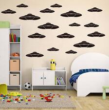 10 x UFO Adesivi Da Parete Bambini Vivaio kids Room Decalcomanie UK rui59a
