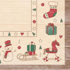 20 x Serviette 40 x 40 cm Tissue Servietten Advent Weihnachten 33963