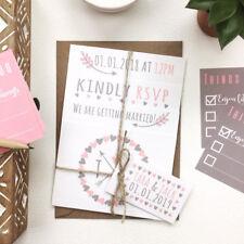 Personalizado De Boda Invitaciones Tarjetas de información a juego, las tarjetas de menú, tarjetas de lugar