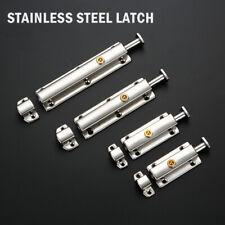 "BARREL BOLT Stainless Steel 3"" 4"" 6"" Toilet Cupboard Sliding Shoot Door Lock"